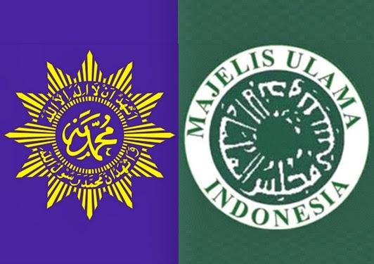 Logo MUI dan Muhammadiyah