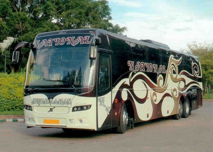 Indian Luxury Buses Pictures Of Beautiful National Travels Volvo