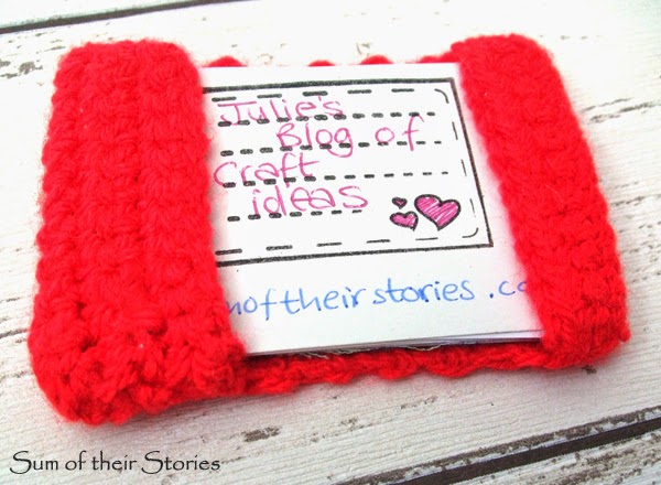 crochet business card holder