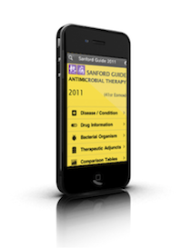 Sanford Guide for Antibiotics and Antimicrobial therapy on the iPhone