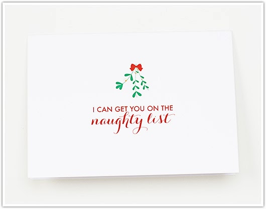 Naughty List Card by Paper & Party Love