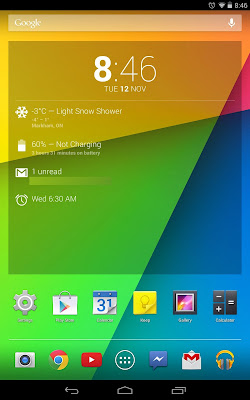 Nexus 7 (2013) running Android 4.4