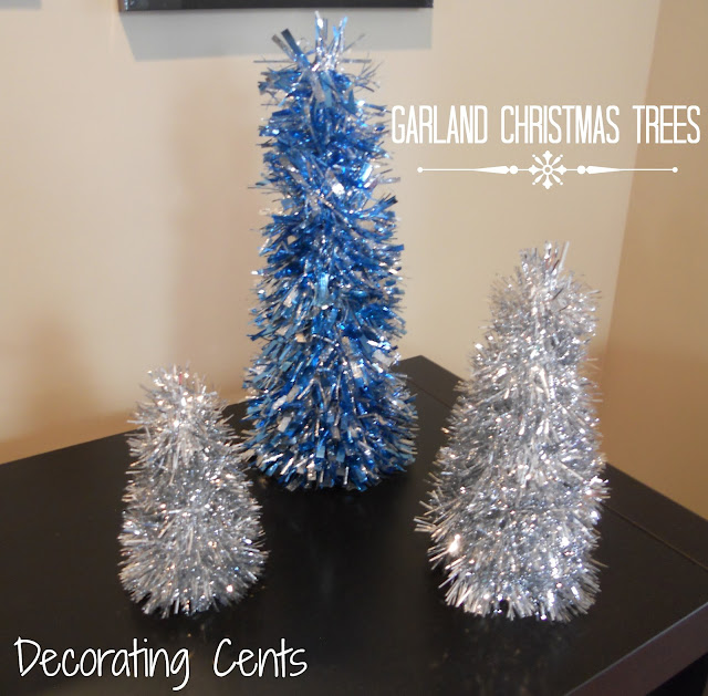 Christmas Tree Decorating With Garland : Decorating cents garland christmas trees