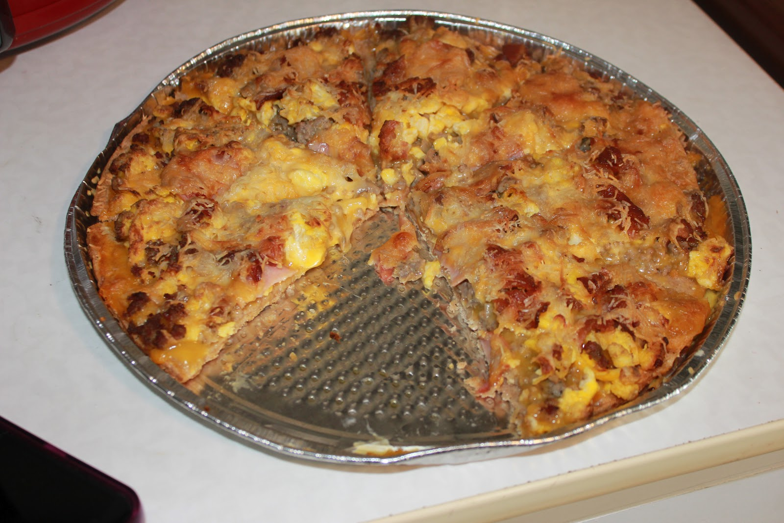 Never trust a skinny cook....: Breakfast pizza