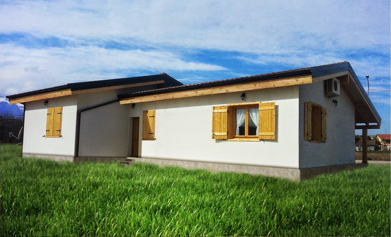 Progetti di case in legno casa 110 mq portico 10 mq for Progetti di portico anteriore