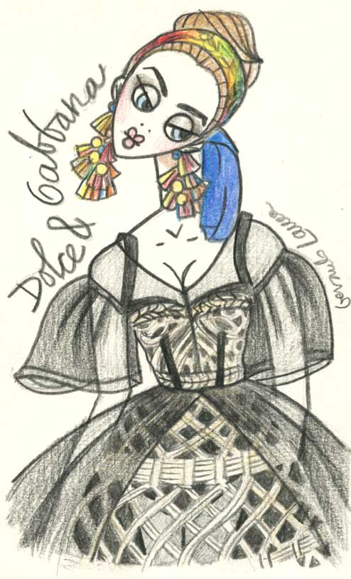 the illustrator files sketch file dolce amp gabbana ss13