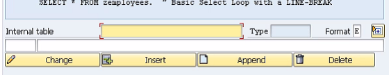Table Mode in ABAP debugger