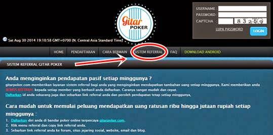 Cara Dapat Chips Poker Gratis dari Refferal Gitarpoker.com