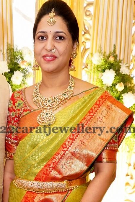 Pretty Women in Kundan Set Jhumkas