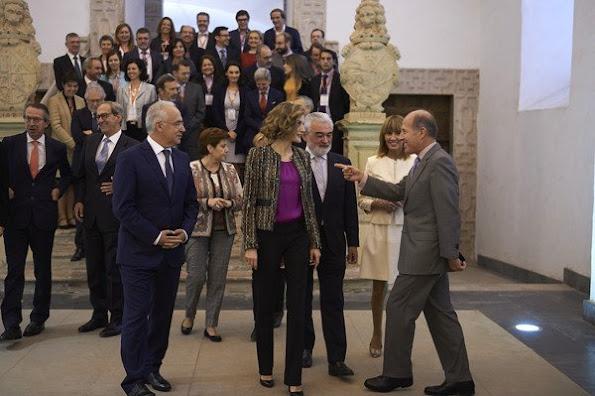 Queen Letizia of Spain attends the inauguration of the 10th International Seminar of Language and Journalism 'Manuales de Estilo en la Era de la Marca Personal'
