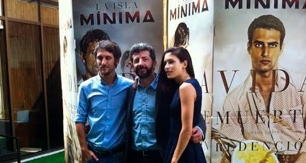 """Raúl Arévalo, Alberto Rodríguez y Nerea Barros en la rueda de prensa de """"La Isla Mínima"""""""