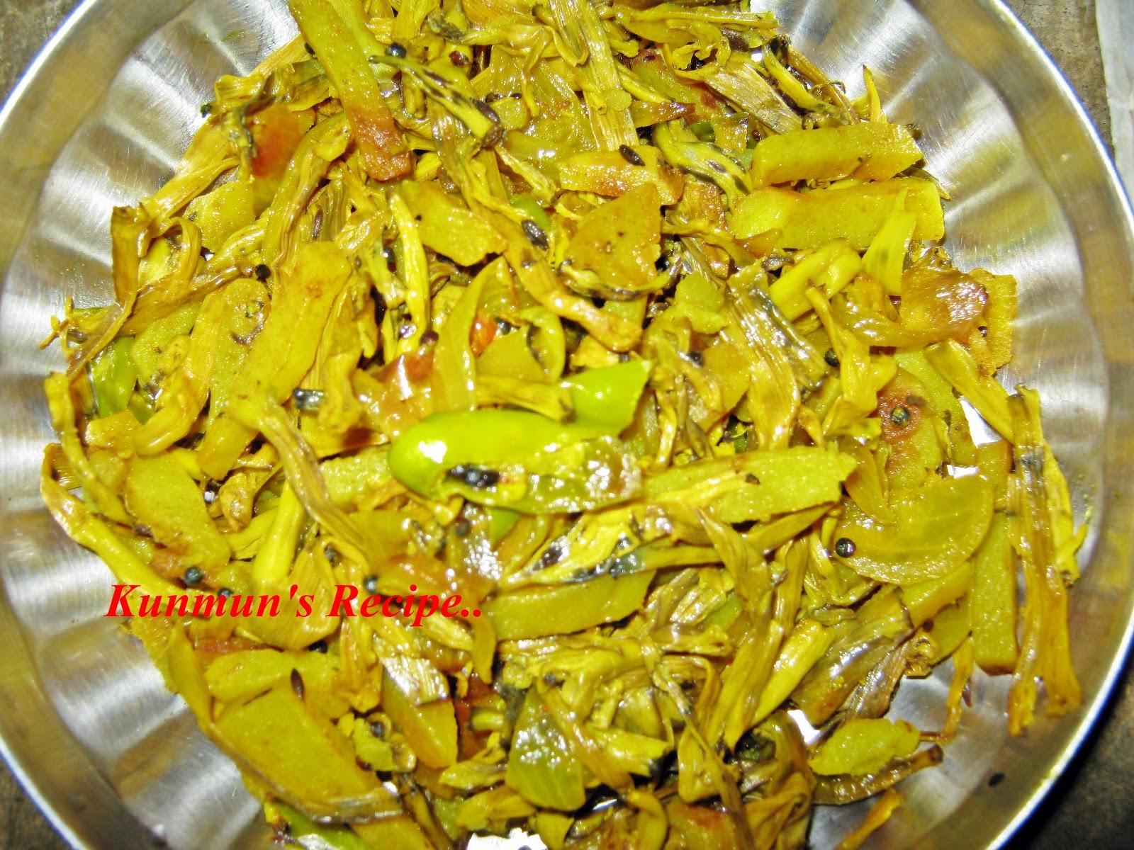 Kunmun s Delicious Kitchen BANANA BLOSSOM KADALI BHANDA RECIPE