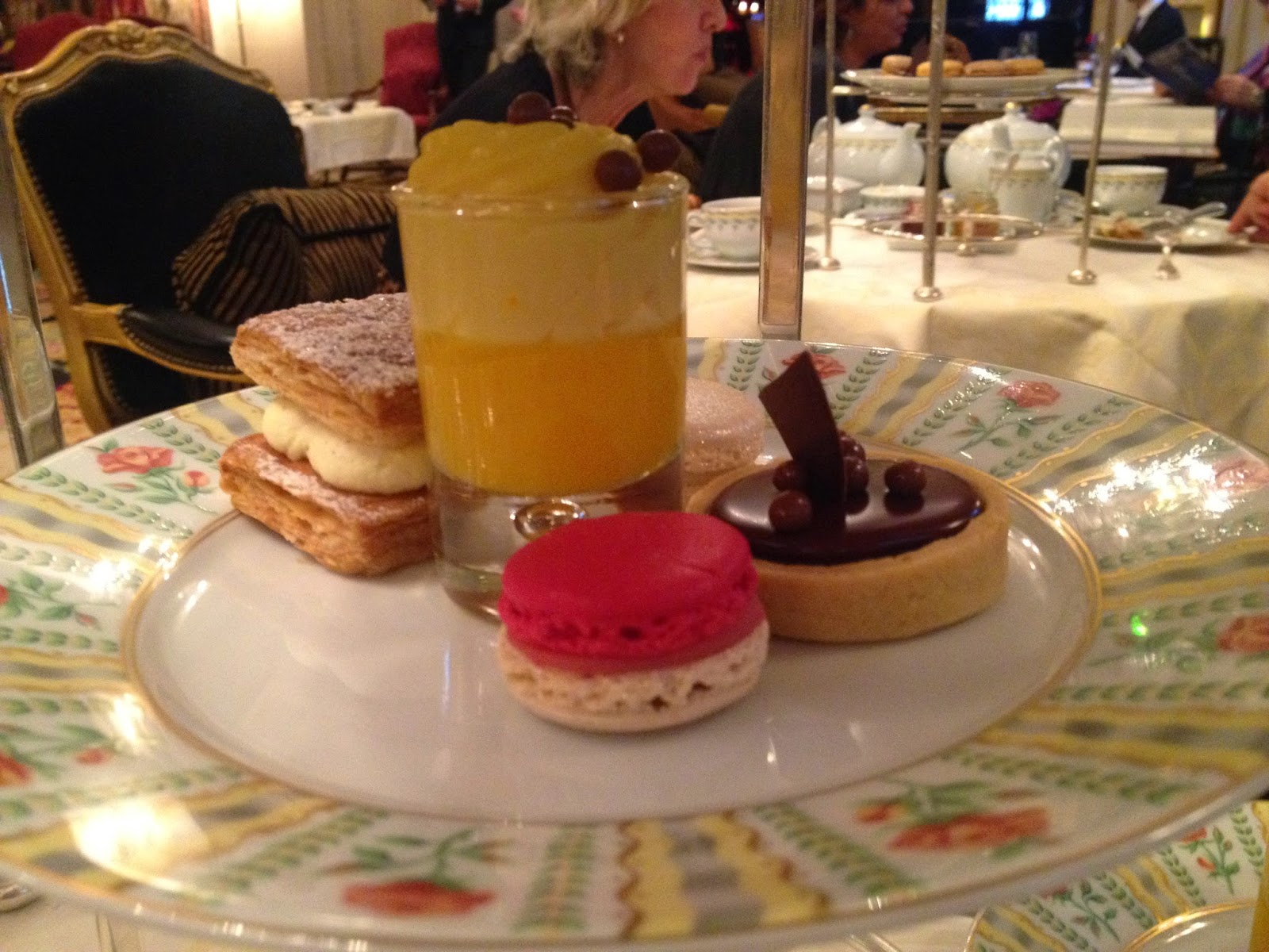 Tea time desserts at La Galerie, Four Seasons Hotel George V, Paris
