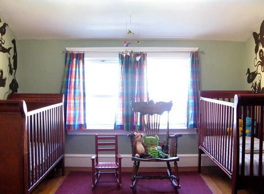Habitaciones para dos beb s dormitorios con estilo - Habitaciones para bebes gemelos ...