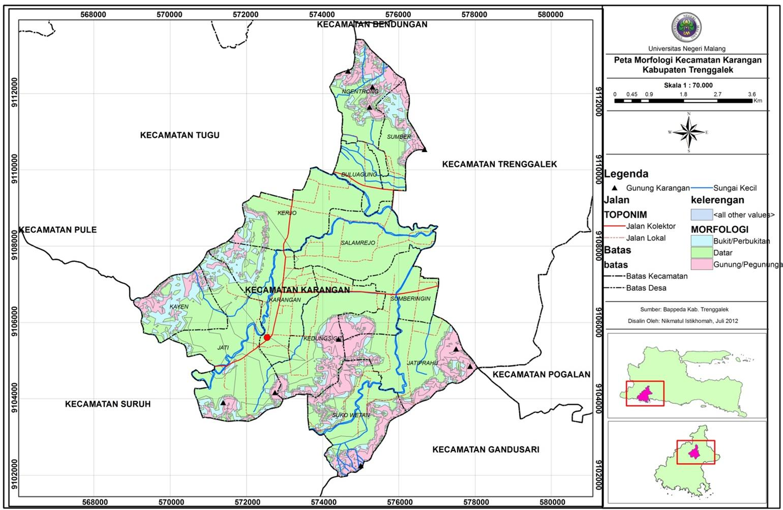PetaGeomorfologi kecamatan Karangan sebagai berikut :