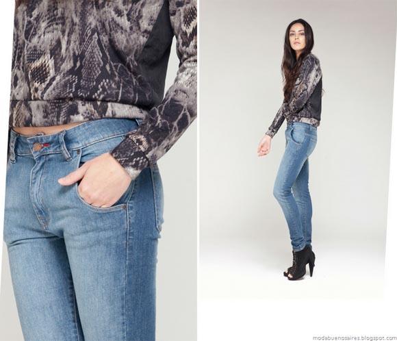La Cofradía otoño invierno 2012. Pantalones de jeans moda 2012.