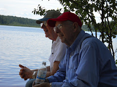 Fred and Bob enjoying a moment at Saranac Lake