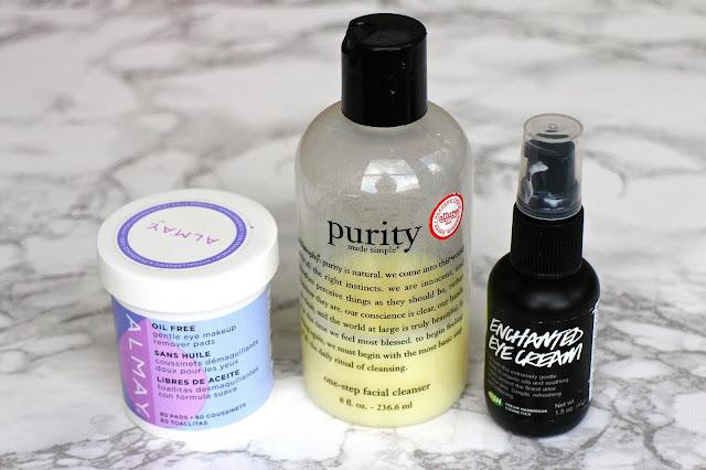 philosophy lush face wash eye cream