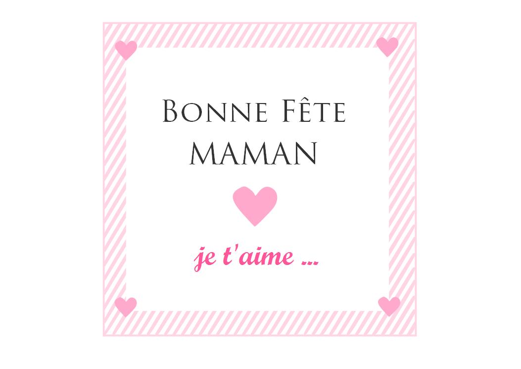 My little star blog carte imprimer pour la f te des m res - Bonne fete maman a imprimer ...