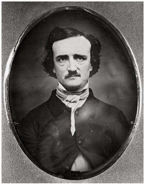 Daguerrotype of Edgar Allan Poe, Providence, RI, 1848.