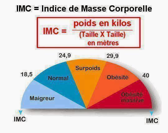 Calcul de l'IMC, connaitre l'indice de masse corporelle et ce que ça signifie