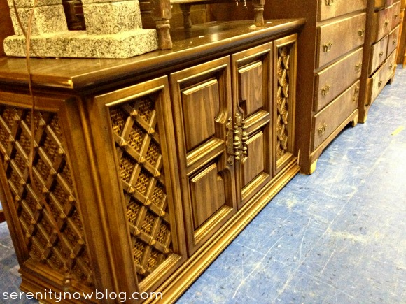 Thrift Store Furniture Makeover Inspiration (Media Console), via Serenity Now