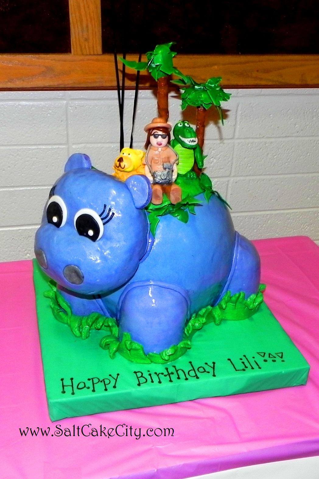 Salt Cake City Hippo Birthday Luau