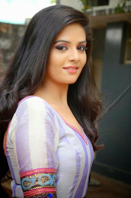 Srimukhi Stills at Dhanalakshmi Thalupu Thadithe Movie Press Meet Photos