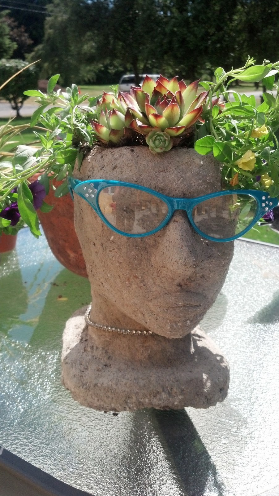 Unique garden decor yard art photograph snohomish seattle for Unique yard decorations