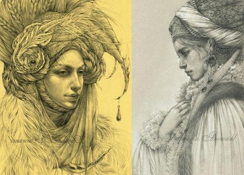 00-Olga-Anwaraidd-Drawings-Fantasy-Portraits-Imaginary-Characters-www-designstack-co
