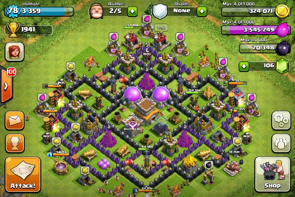 Clash of Clans TH8 Base Hybrid