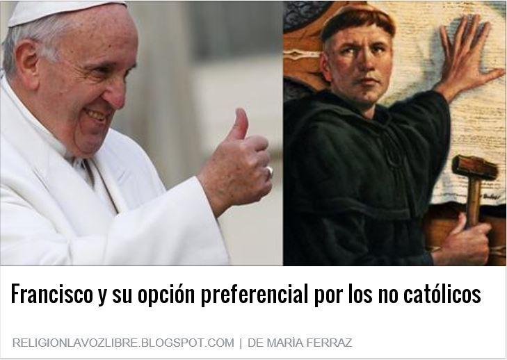 """Heresiarca Bergoglio: """"No existe un Dios católico"""""""