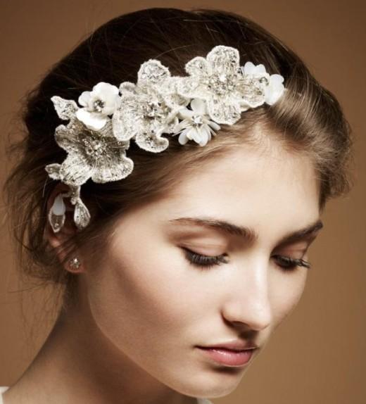 Bridal Hair Pieces- Courtesy of Jenny Packham