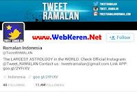 @tweetramalan, Akun Twitter yang wajib difollow dengan followers terbanyak