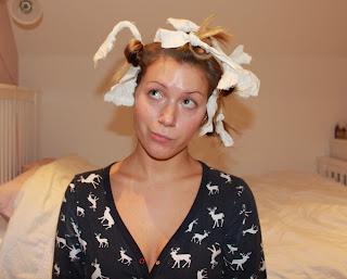 Rag Rolling Hair