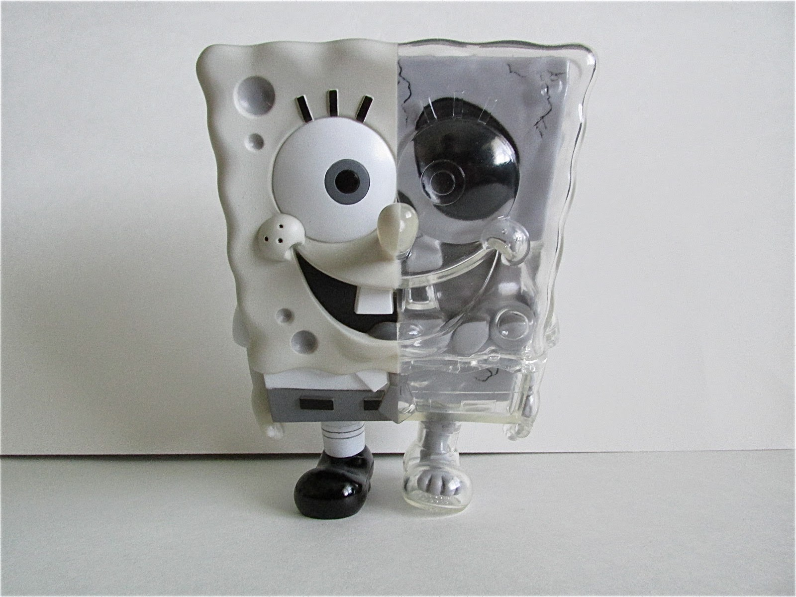 spongebob squarepants x secret base black and white edition toy