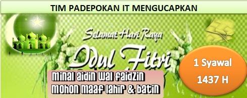 Selamat Hari Raya Idul Fitri 1 Syawal 1437 H Mohon Maaf Lahir dan Batin