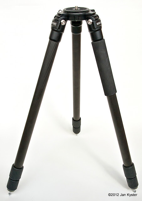 Benro C3770T CF Tripod standing w/ steel spikes fitted
