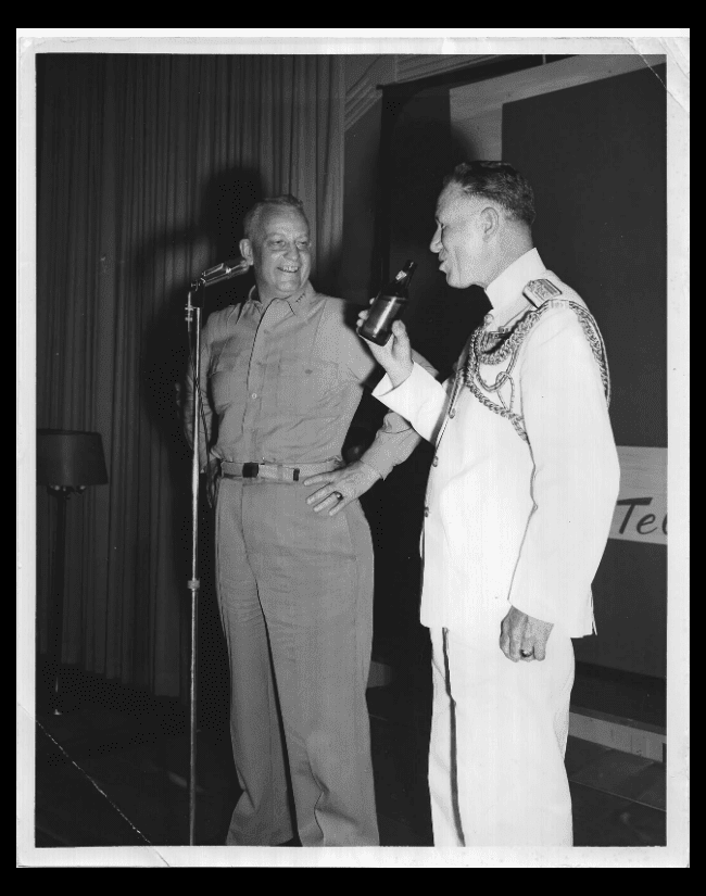 Admiral Arleigh Burke and Admiral Roy A. Gano (Official Photograph US Navy)