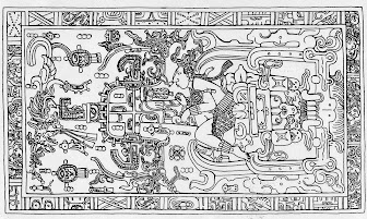 Palenque tomb lid from Chariots of the Gods