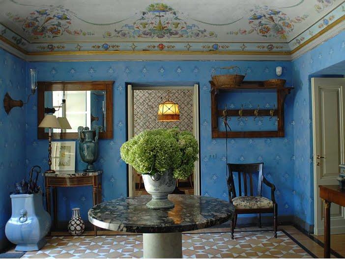 Knickerbocker style design tuscan villa interiors for Villa interiors