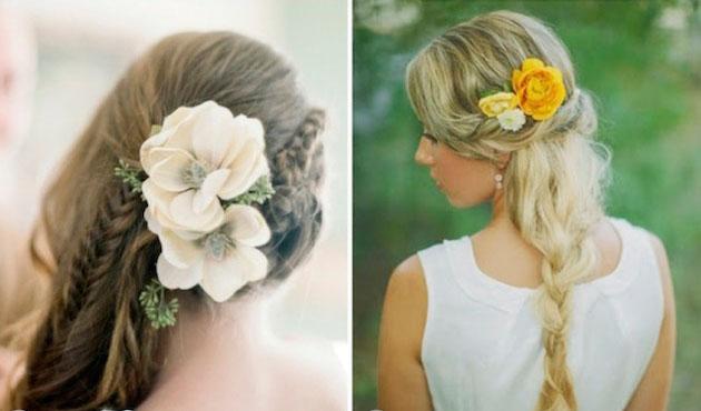 Resultado de imagen de tocado de flor natural novias