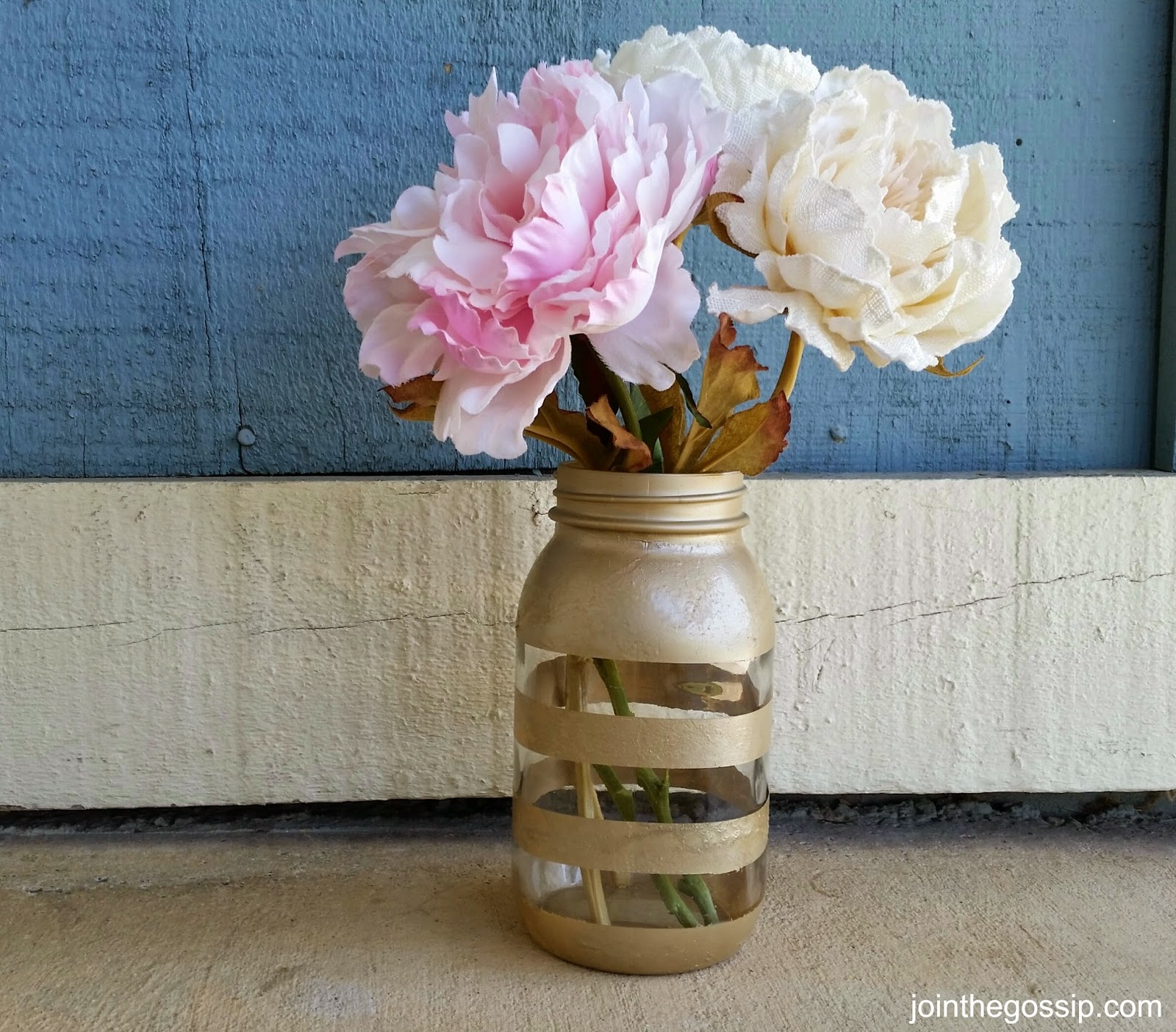 Striped Mason Jar - jointhegossip.com