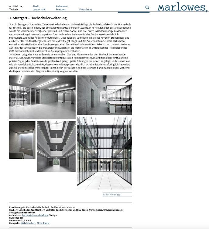 Bericht HFT Stuttgart Marlowes