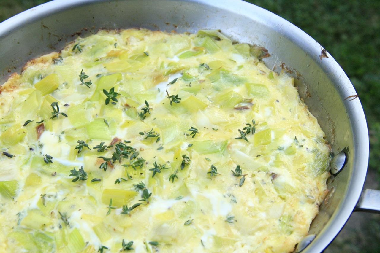 Leek and Goat Cheese Frittata | Feast of Joy
