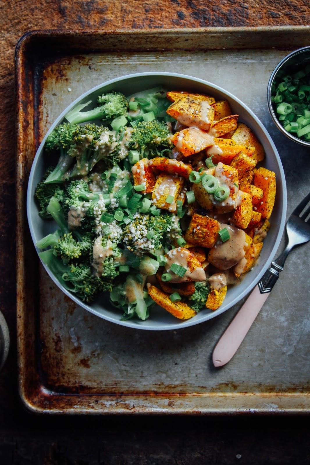... Vegan Life: CREAMY BUTTERNUT SQUASH, BROCCOLI + CHIPOTLE ALMOND SAUCE