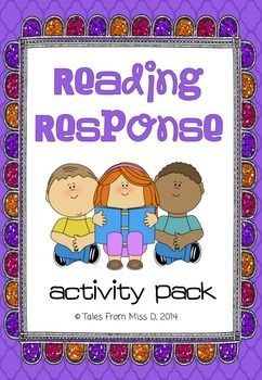 http://www.teacherspayteachers.com/Product/Reading-Response-Activity-Pack-1346392