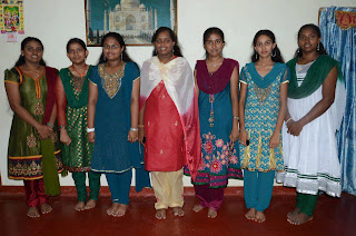 Girls in a get together during onam festival.