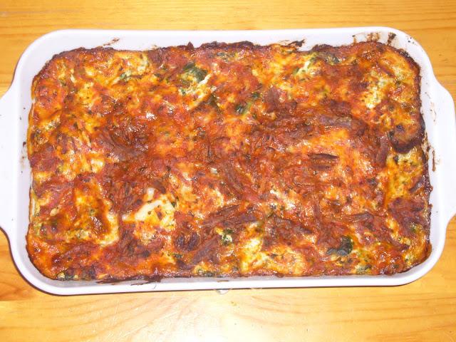 Short Rib and Spinach Lasagna