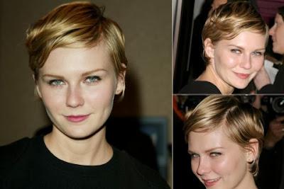Kirsten Dunst short haircut with bangs